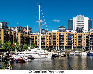 St Katherine's Dock in London