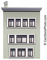 A multi-story building - Illustration of a multi-story...