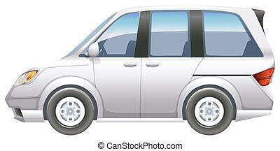 A minivan - Illustration of a minivan on a white background