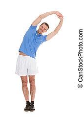 Portrait Of Happy Man Exercising
