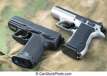 dos, armas de fuego,