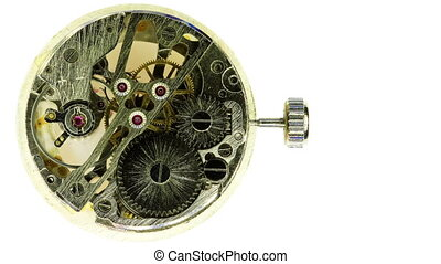 modern wind-up watch - Complex movement of a modern wind-up...