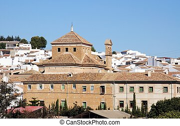 Town buildings, Antequera. - Buildings on the edge of town,...