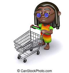 3D, rastafarian, op, de, supermarkt,