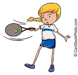 A female tennis player