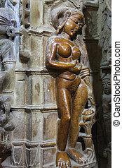 statua, donna,  Jaisalmer,  jain, tempio