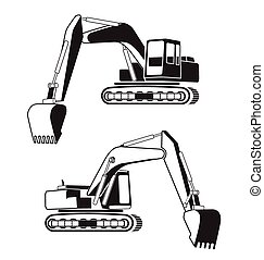 backhoe - Vector illustration of backhoe icon