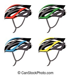 Bicycle Helmet Safety vector and illustration