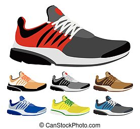 Sport shoes on a white background. Vector illustration