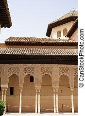arches, Alhambra, Granada, Spain