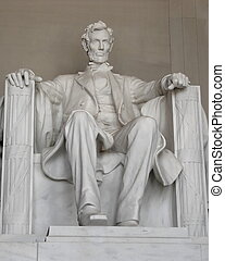 Abraham Lincoln - Statue of Abraham Lincoln at the Lincoln...