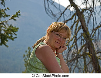 Midlife Woman Content - This middle aged natural looking...