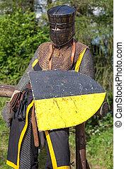 Medieval Knight - Armed medieval knight