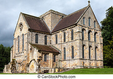 View of a building at Brinkburn Abbey