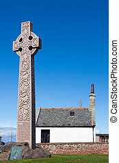 Stone cross erected in memory Catherine Watson of Glasgow in...