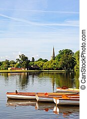 Rowing boats, Stratford-upon-Avon - Rowing boats on the...