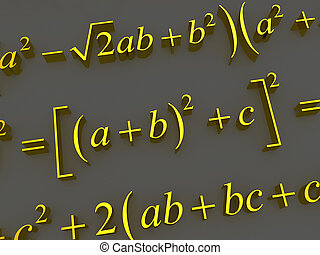 Mathematical formulas 3d