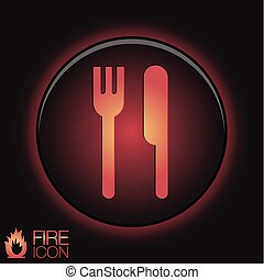 fork and knife. symbol lunch . cutlery