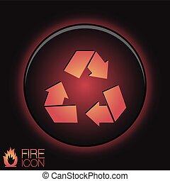 recycle symbol. Environmental icon arrow
