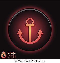 Nautical Anchor vector anchor seafaring character icon...