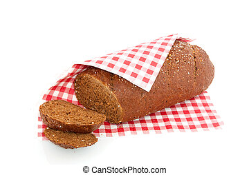 Brown bread - Brown whole meal bread cut into slices