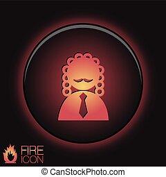 icon avatar judge. symbol of justice