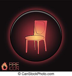 chair icon symbol furniture icon home interior