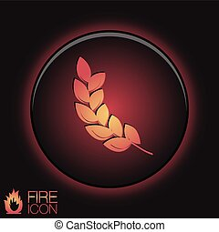 abstract wheat spike ears icon