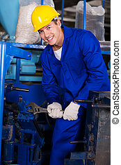industrial mechanic repairing machine