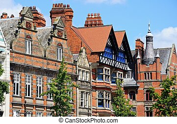 Inner city buildings, Nottingham - Buildings in the old...