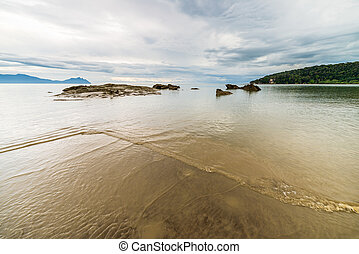Bako National Park landscape - Beautiful shoreline and...