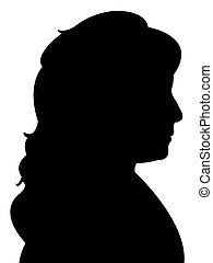 lady head silhouette