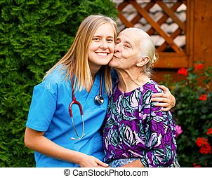 Loving Patient - Kind young doctor being admired and loved...