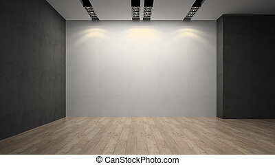 Empty room whith white wall
