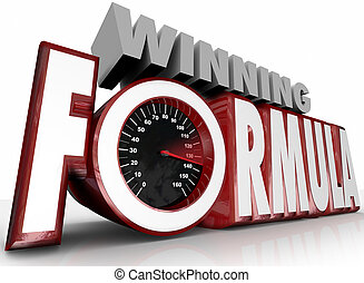 Winning Formula 3d Words Speedometer Best Strategy