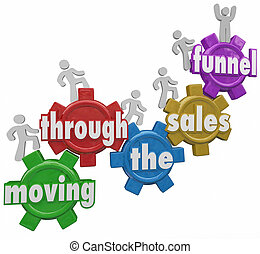 Moving Through Sales Funnel Customers Buying Your Products -...