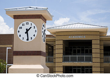 Clock Tower at High School in Florida