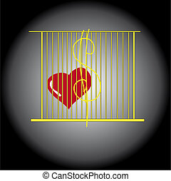 Heart in a cage