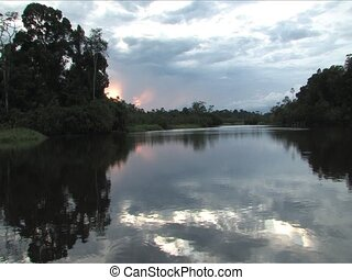 Amazon - Sunset in the Ecuadorian Amazon