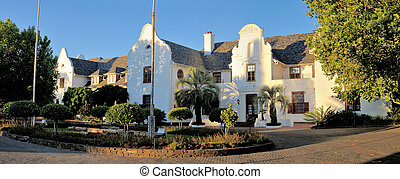 Panorama of Oliewenhuis Art Museum in Bloemfontein, South...