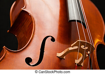 Cello - A beautiful brand new cello, isolated on a black...