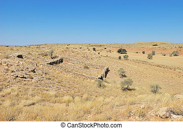 Historical settler stone enclosure for sheep a