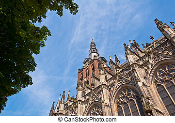Beautiful Gothic style cathedral in Den Bosch, Netherlands