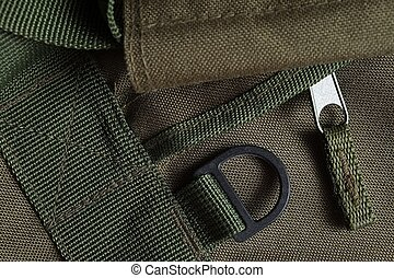 Tactical holdall army bag details - Detail of a tactical...