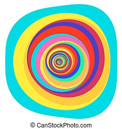 Colorful Abstract Psychedelic Art Background. Vector...
