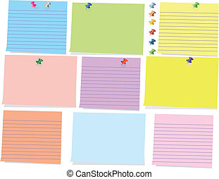colorful sticky note - There are a lot of sticky notes with...