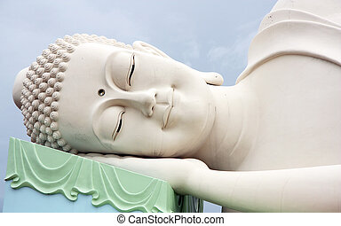 Sleeping Buddha - The face of Sleeping Buddha in Vietnam