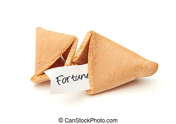 Fortune cookie isolated on a white background