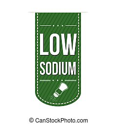 Low sodium banner design over a white background, vector...