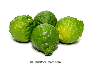 bergamot - Bergamot fruits isolated on the white background